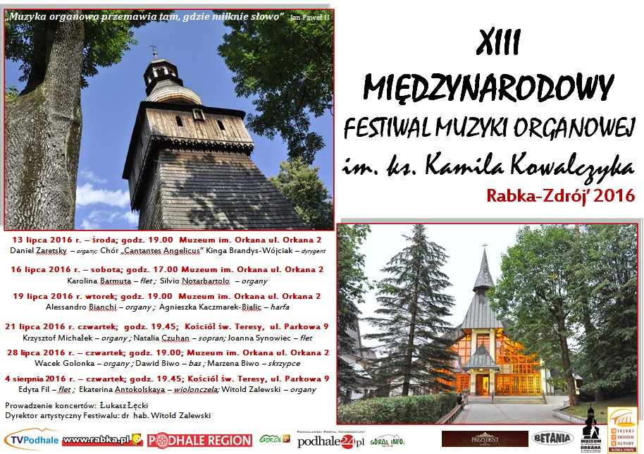 Więcej o: XIII Międzynarodowy Festiwal Muzyki Organowej