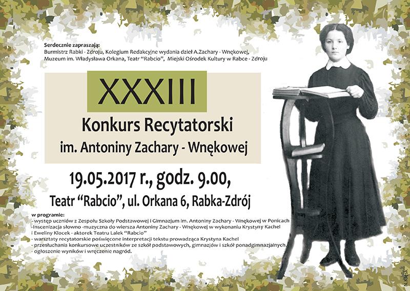 Więcej o: 33. Konkurs recytatorski im. Antoniny Zachary-Wnękowej