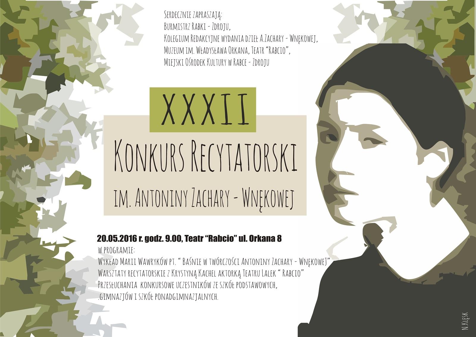 Więcej o: 32. Konkurs recytatorski im. Antoniny Zachary – Wnękowej