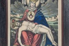 MOR AH/ 106 Obraz w technice akwaforta: Pieta Siedmiu Boleści